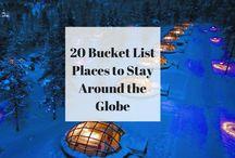 Bucket list around the world
