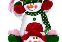 3 muñecos de nieve