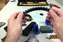 RAE-310 Bullet Bracelet Holds Live 9mm Luger Ammo! Tactical Wrist Bullet Bandolier (black)