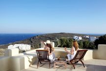 Diles & Rinies Villas, Tinos island / They are eight in number and they constitute independent, luxury villas only a breath away from the port of #Tinos #island, towards the beach of Agios Fokas. The Tinian landscapes embrace them harmoniously and they embrace you like a pair of hospitable arms.