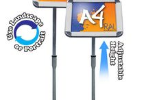 Sign Holders & Poster Stands / Single and double sided A4, A3, A2 & A1 sign holders, menu boards and poster stands.
