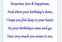 Birthday card verses