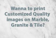 Print on Marble / Print favourite design or images on hard subtrates like Granite, Marble, Glass, Wood, gypsum board, PVC Sheet and so on... using Lexy Print Transfer Technology....