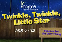 Twinkle, Twinkle, Little Star (Theatre for the Very Young) / TWINKLE, TWINKLE, LITTLE STAR! A World Premiere – Theatre for the Very Young Experience  AUGUST 5-20, 2016 • Ages 18 mo–4 years What comes out at night? In this magical experience, our youngest audience members will discover all the joy and wonder of night time sounds and creatures, fireflies and flashlights, blankies and teddy bears and of course, stars. If you enjoyed The Dandelion Seed, this charming nighttime adventure is a must see! http://www.stagestheatre.org/twinkle-twinkle-little-star/
