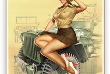 pin up military