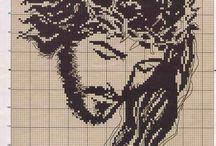 rostro de jesus punto de cruz