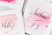 Watercolor / by Orange Blossom Paperie