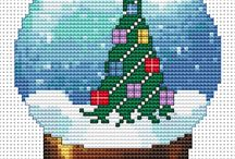 """вышивка """"новый год и рождество"""""""