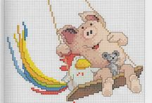 Pig - embroidery