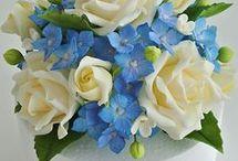 marcipánové kvety
