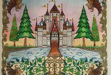 Coloring Books - Enchanted Forest & Secret Garden