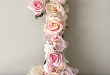 letters and number decoration ideas