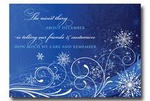 CHRISTMAS BUSINESS CARD GREETINGS