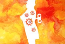 """Exhibition """"TERI MCCANS"""" / Os traços e as formas do trabalho de Teri McCans suavizam temas perturbadores. A artista é influenciada pela experiência de uma vida tranquila próxima a natureza na periferia de Nova Jersey e pelos campos de batalha no Iraque. Teri transforma suas interpretações e cria um mundo com cores vibrantes e sobreposições neutras, vermelhos e amarelos intensos contrastam com a calmaria do branco. José Roberto Moreira"""