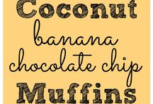 coconut, Banana &a Chocolate Chips Muffins