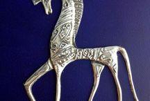 pewter horses