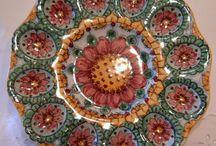 Piatto ovarola/Antipastiera Flowers