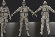 3D Military character Reference