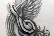 Musik tattoo's