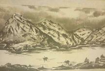 Рисунки в технике Китайской живописи