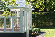 Kasvihuone vanhoista ikkunoista / Kotipuutarhan kasvihuoneprojekti