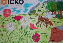 "Concours ICKO ""Dessine-moi une abeille"" / Concours ICKO été 2015 sur Facebook : ""Dessine-moi une abeille""."