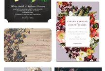 01_Botanical / Floral wedding invitations
