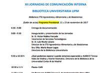 #jcbupm17 / XII Jornada de Comunicación Interna de Biblioteca UPM | ETSI Agronómica, Alimentaria y de Biosistemas UPM 22/11/17 y 23/11/17 | @biblioUPM
