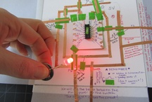 Soft circuits / Electronics with paper circuits, conductive thread, sewing, chibitronics