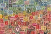 Oliver's Stamps in frames