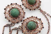 Wire - náušnice / šperky, bižuterie