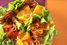 Salate anrichten