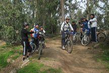 Mounitain biking lessons / We organized the mountain biking lessons in Metropolitan Park, Santiago