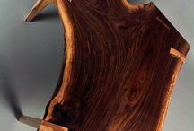 Мебель из обрезков бревен