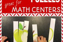 First Grade Math / Ideas, activities and printables to add to your first grade math center!