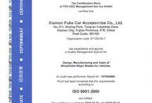 Wiper blade certificate / ISO/TS16949:2009