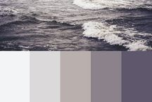 purple and grey
