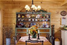 Log: Dining rooms / Beautiful log home dining rooms.