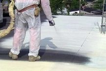Izolacja dachu / Moja tablica jest o izolacji dachu płaskiego natryskową pianką poliuretanową.