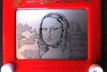 Etch A Sketch Art / Does anyone remember playing with this as a kid? Well these sketches are no joke? / by JAM Paper