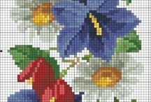 virágos keresztszemes