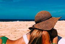 beach + friends