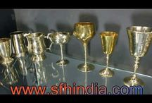 Brass Wine Goblets-Julep Cups