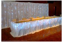 Wedding Backdrops & Drapes / Bridal table backdrop & wall drapings.