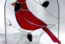 Stained glass easy Cardinal