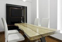 MARCHEWKA wnętrza / m.in. drzwi, obudowy wanien, sufity kasetonowe, ściany, stoły z plastra drewna