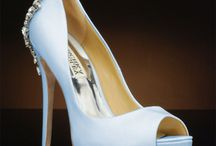 Badgley Mischka Wedding Shoes / Beautiful, sparkly wedding shoes for your big day.