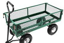 Garden Trolley Wheel Barrow Heavy Duty Metal Utility Garden Home Hand Tools Unit