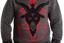 MOB Baphomet Collection / Baphomet Pentagram Goat Head Sweaters, Cardigans, Ornaments + more by Middle of Beyond