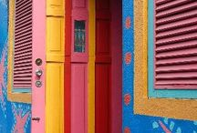## Travel Photos Colourful Buildings ## / A board filled with amazing colourful buildings from around the world.